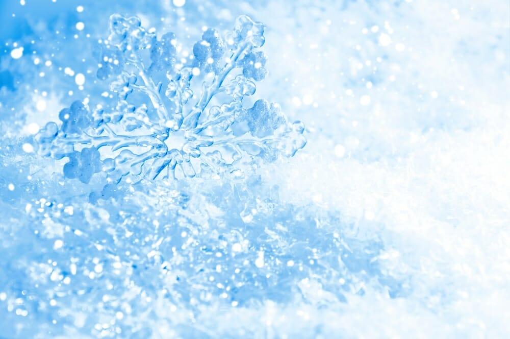blue snow flake john green